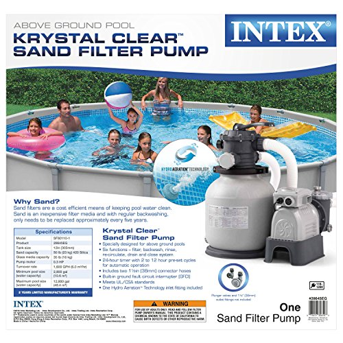 Intex Krystal Clear Sand Filter Pump For Above Ground Pools 12 Inch 110 120v With Gfci Buy