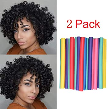 Amazon.com  Soft Twist Rollers 20 pieces/2pack, Hair Curls