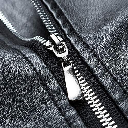 Éclair Cuir Lianmengmvp Supporter Hommes Fermeture Solide Noir Haut hiver Décontractée Longue Manche En Automne Veste x17wq1gC