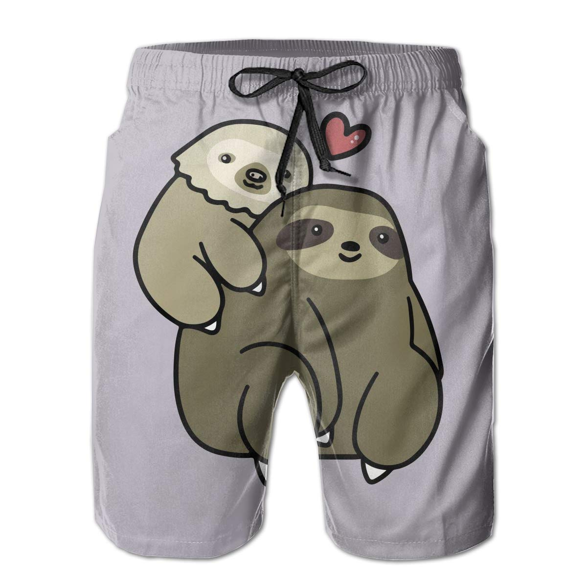 HZamora/_H Mens Two Toed Sloth and Three Toed Sloth Summer Breathable Quick-Drying Swim Trunks Beach Shorts Cargo Shorts