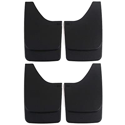 Red Hound Auto Premium Heavy Duty Molded Universal Mud Flaps Guards Splash Front and Rear Set 4pc: Automotive