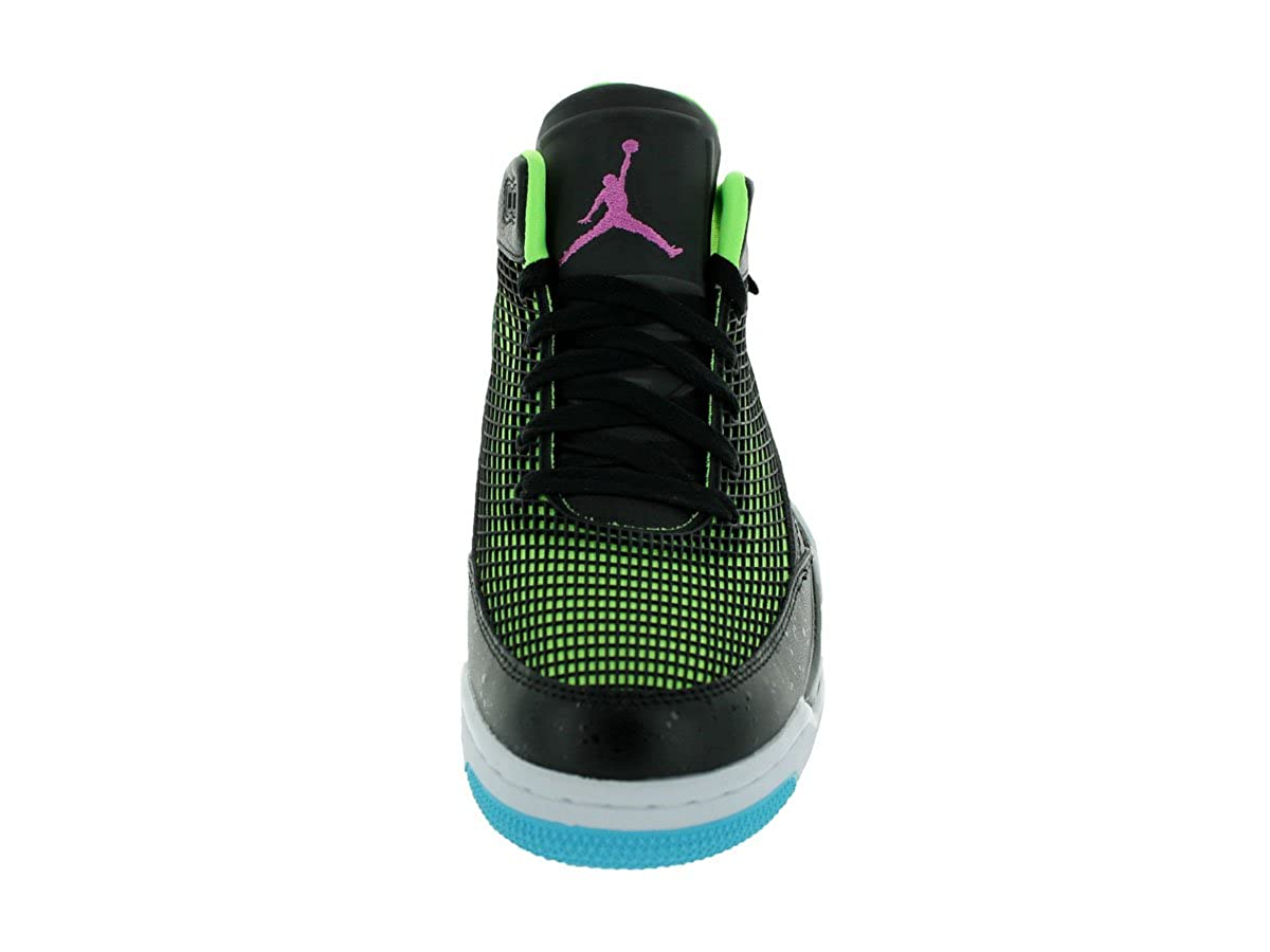 the best attitude b0aaf 1f4f9 Amazon.com   Jordan Flight Club 80 s Men s Basketball Shoes Black Club  Pink-Flash Lime-Gamma Blue 599583-032   Basketball