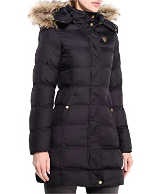 339543f57636 MISSY Girls Black Puffa Coat Jacket Quilted Hooded School Clothing ...