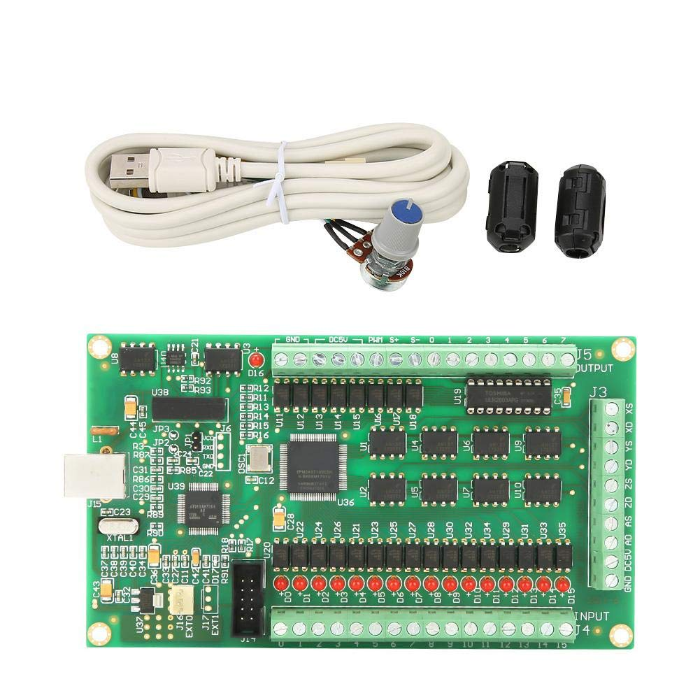 Akozon CNC Motion Card 3/4 Axis USB Mach3 200KHz Breakout Board Interface for Machine Windows (4 Axis)