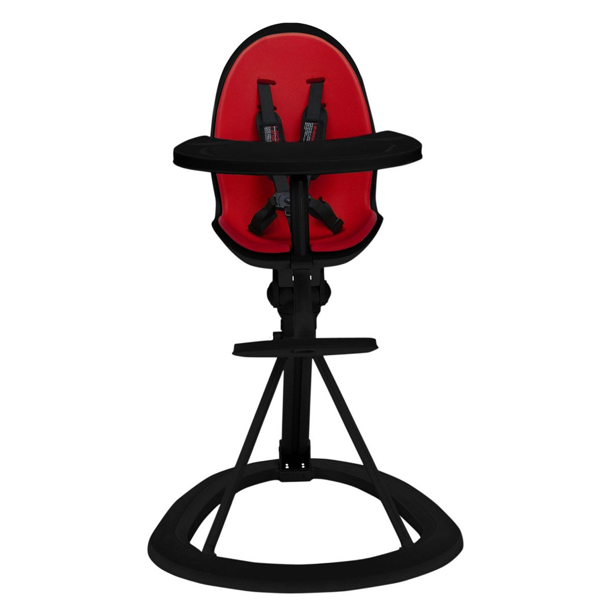 Feature Packed Feeding High Chair in Red on Black Colour Combination Ickle Bubba Orb Baby Highchair