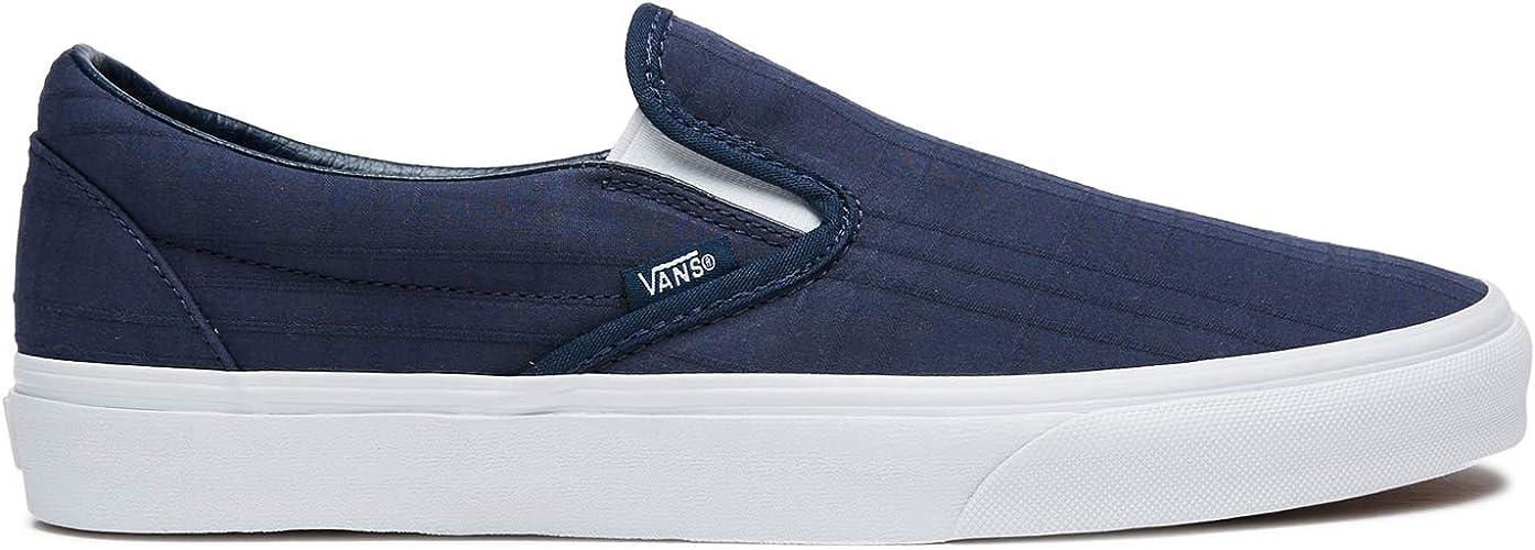 toca el piano Vago reaccionar  Amazon.com | Vans Men's Classic Slip On Tonal Plaid Skate Shoe | Shoes