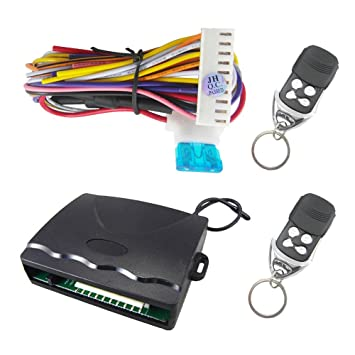 Electric Vehicle Parts Central Keyless Door Lock Central Locking System With Car Remote Control Alarm Systems Remote Control Central Kit Locking Switch