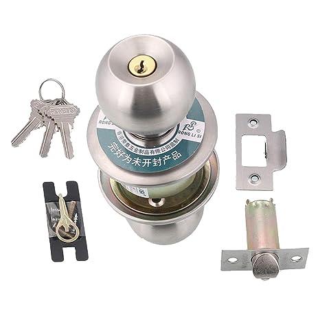 MagiDeal bombín de Cerradura para Puerta de baño Giratorio para WC Cuarto de baño