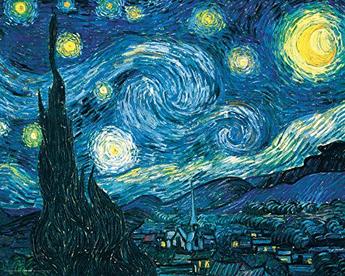 Poster Starry Night Print (Culturenik Vincent Van Gogh Starry Night Night Decorative Fine Art Poster Print, Unframed 16x20)