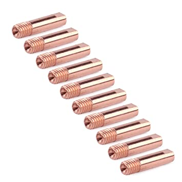 10 pcs MB 15 AK MIG/MAG soldadura antorcha Contacto Punta 0.8 x 24 mm cobre M6 gas boquilla: Amazon.es: Bricolaje y herramientas