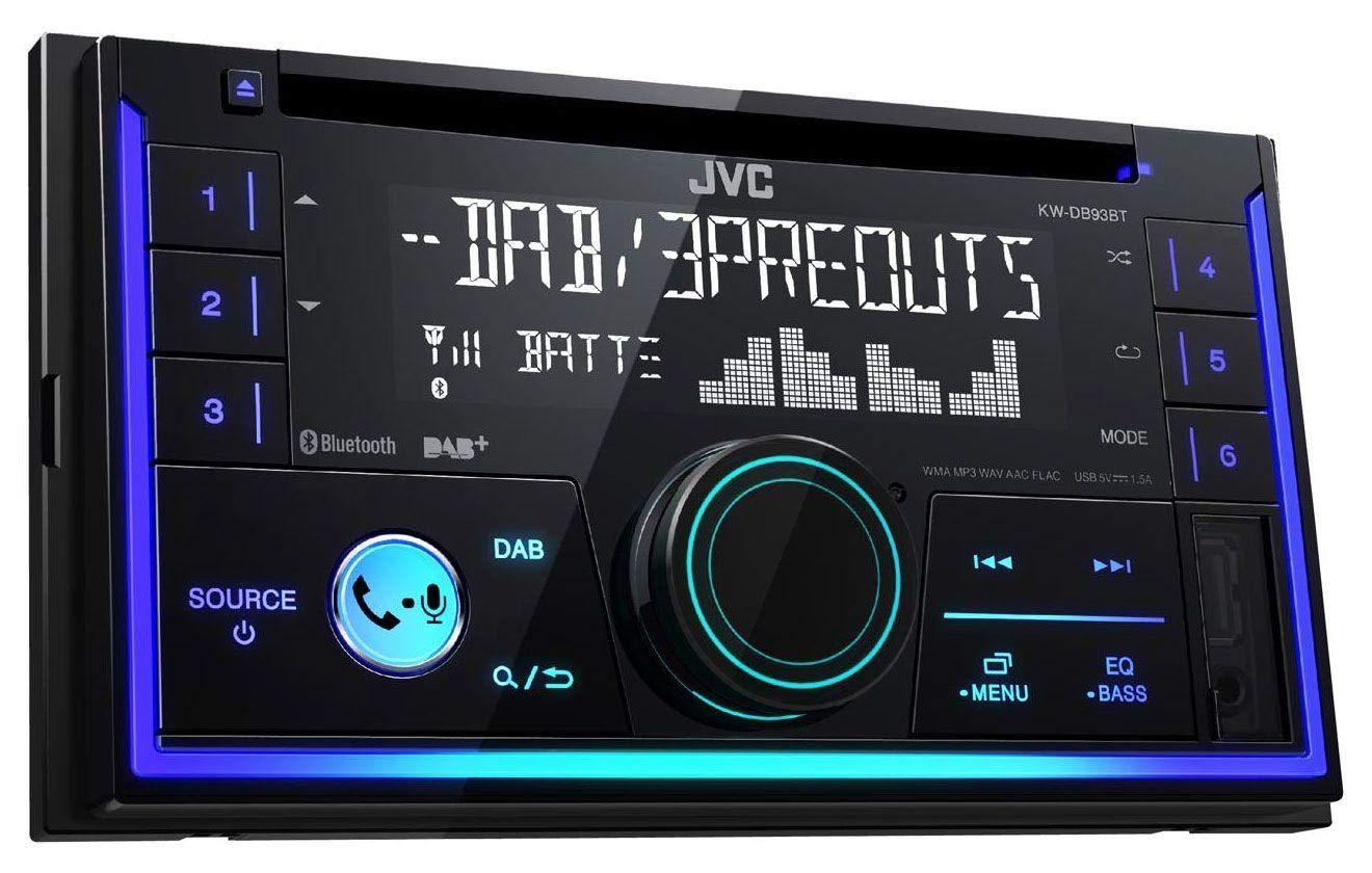 caraudio24 JVC KW-DB93BT Bluetooth DAB CD MP3 2DIN USB Autoradio f/ür FIAT Doblo ab 10 Opel Combo ab 12