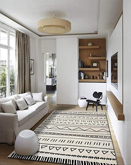 Insun Tapis de Salon Chambre Style Scandinave Moderne Design Tapis Déco  Rectangle Antidérapant Lavable Style 20 120x160cm