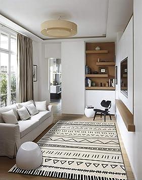 Insun Tapis de Salon Chambre Style Scandinave Moderne Design Tapis Déco  Rectangle Antidérapant Lavable Style 20 130x190cm