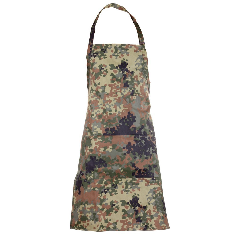 Flecktex Camouflage Apron for Real Men | Party Fun Gift Apron and BBQ Apron | The Perfect Barbecue Accessory in Camouflage Design, Flecktarn Phoenix, Individual Kamotextil Ltd.