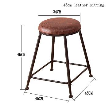GZD Hocker Retro Küche Hocker mit Metall Beine High Hocker Bar ...