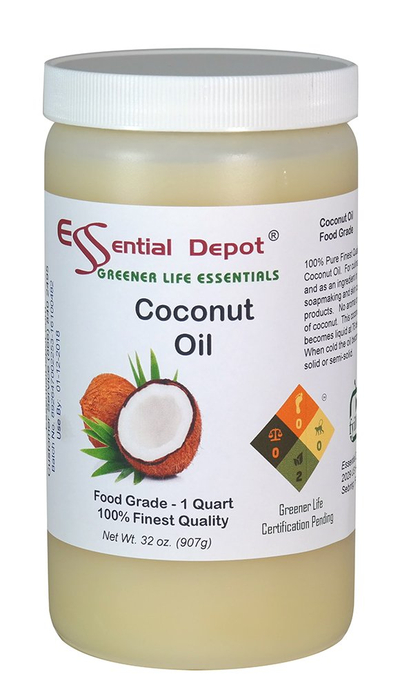 Coconut Oil - 1 Quart - 32 oz. - Food Grade