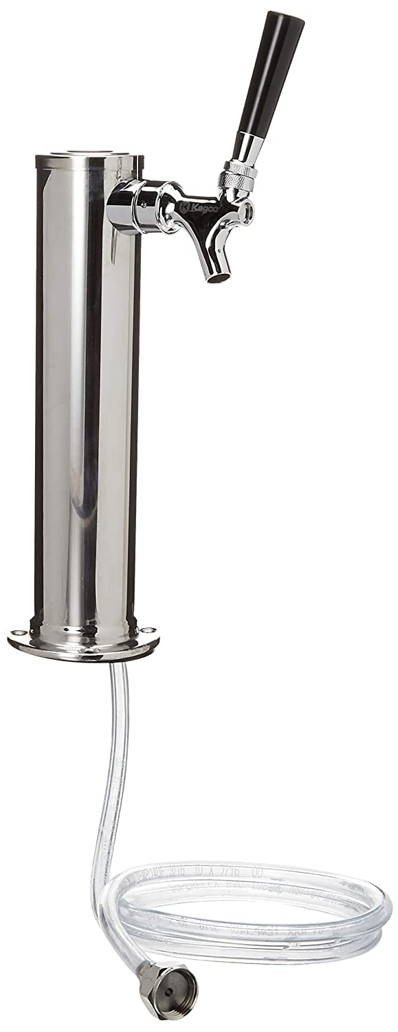 "Kegco D4740 Single Tap Chrome Draft Beer Kegerator Tower - 2 1/2"" Diameter"