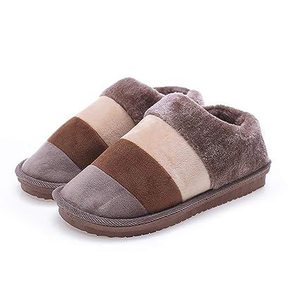 Romanticsmy Zapatillas de casa para Mujer Zapatillas Planas de Invierno para Mujer Casa Zapatillas de Viaje