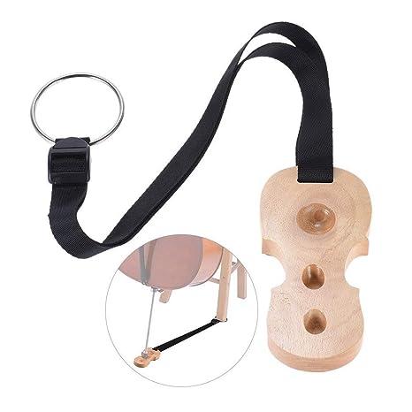 rojo vino Tap/ón antideslizante de madera para violonchelo 3 orificios dise/ño de violonchelo Ruputas