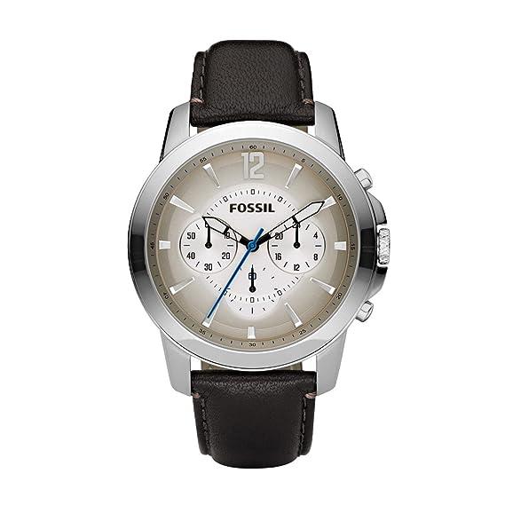 Fossil FS4533 - Reloj cronógrafo de cuarzo para hombre con correa de piel, color marrón: Amazon.es: Relojes