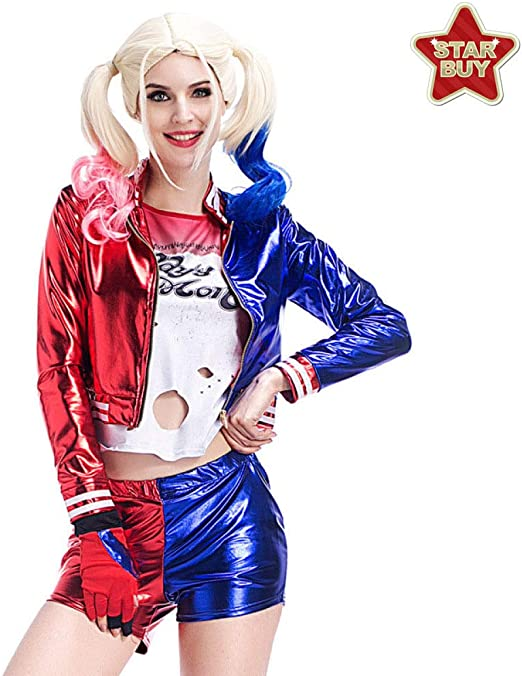COSOER Suicide Squad Clown Female Suit Uniforme De Apelación ...