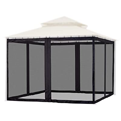 Yescom Universal Replacement Mesh Netting Screen Wall Sidewall Curtain with Zipper for 10x12ft Yard Gazebo Canopy Tent : Garden & Outdoor