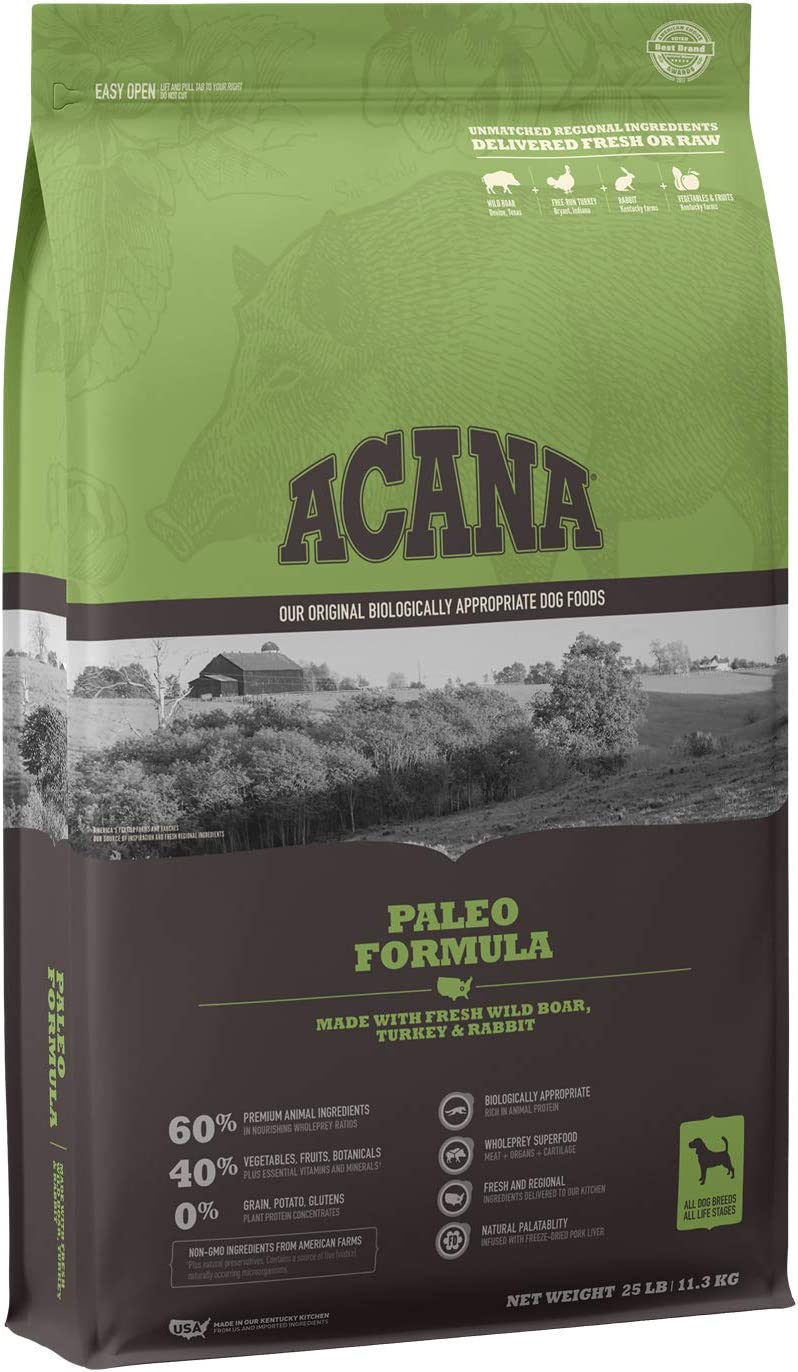 25-Lbs ACANA Protein Rich, Real Meat, Grain-Free Dry Dog Food (Paleo Recipe)