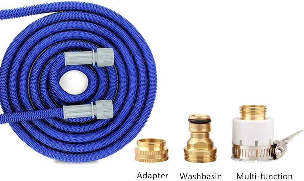 HZYYDC Flexible Garden Hose, Expanding Magic Garden-Hose-Pipe 3 Times Flexible Hosepipes Expandable-Water-Hoses with 7 Function Spray Gun And 3 Hose Fittings,15m 22m