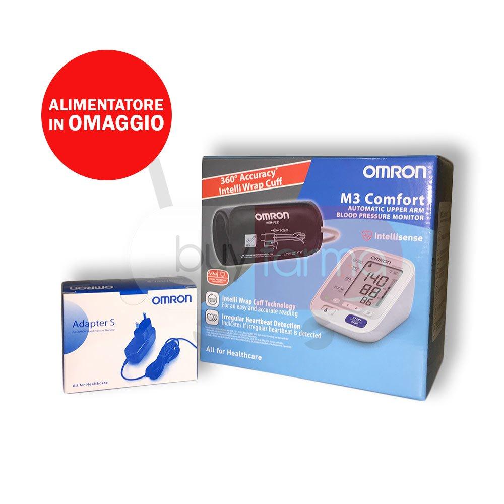 Omron M3 Comfort - Medidor de presión de brazo digital + Fuente de alimentación de corriente (): Amazon.es: Salud y cuidado personal
