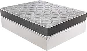 ROYAL SLEEP - Pack Descanso colchón viscoelástico Ceramic Plus 135x190 y canapé abatible Gran Capacidad Blanco Madera - Montaje y Retirada de Usado ...