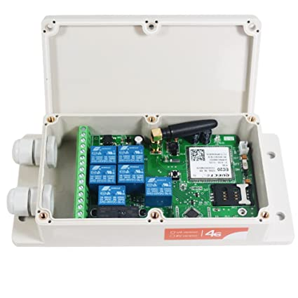 KiaoTime GSM-RELAY-US4G NEW USA AT&T 4G 7CH Output GSM SMS Remote Control  Relay Contact Switch Box iOS APP