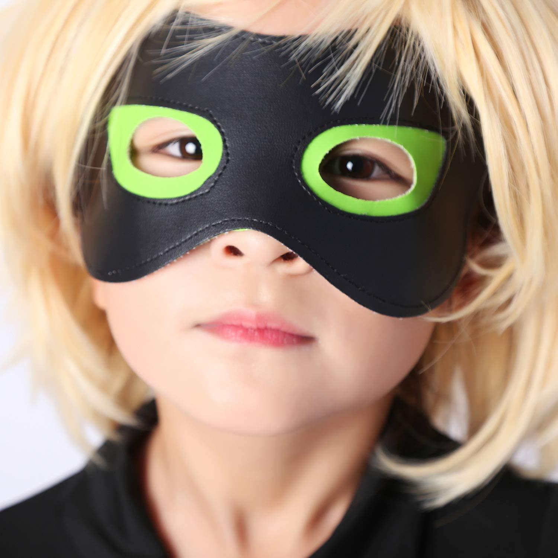 kelee Kid\'s Magic Ladybug Cat Cosplay Jumpsuit Boy\'s Girl Costume Black Cat Noir Cosplay Costume (M(41-45IN))