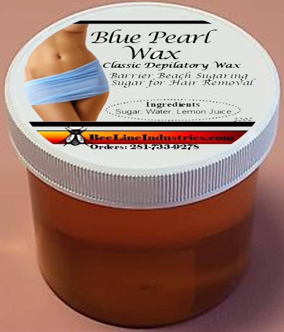Blue Pearl Wax Barrier Beach Sugaring Pure Gold Sugar for Hair Removal 32oz