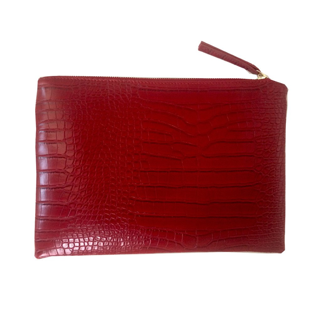 NIGEDU Women Clutches Crocodile Grain PU Leather Envelope Clutch Bag BB341