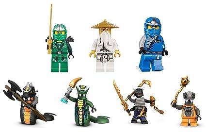 Set From 9450 Epic Dragon Battle Set Of 7 Lego Mini Figures Sensei Wu Lloyd Zx Jay Zx Garmadon Chokun Acidicus And Skalidor Figures Figures Only