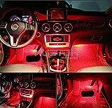 Onepalace 4Pcs Car LED Interior Underdash Lighting Kit Led Car Interior Light Auto Interior Lights Car Auto Interior LED Atmosphere Lights (Red)