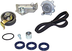 DNJ TBK800BWP Timing Belt Kit with Water Pump/For 1999-2006 / Audi, Volkswagen / A4, A4 Quattro, Beetle, Golf, Jetta, TT, TT Quattro / 1.8L / DOHC / 20V /AMU, APH, ATC, AWD, AWM, AWP, AWV, AWW