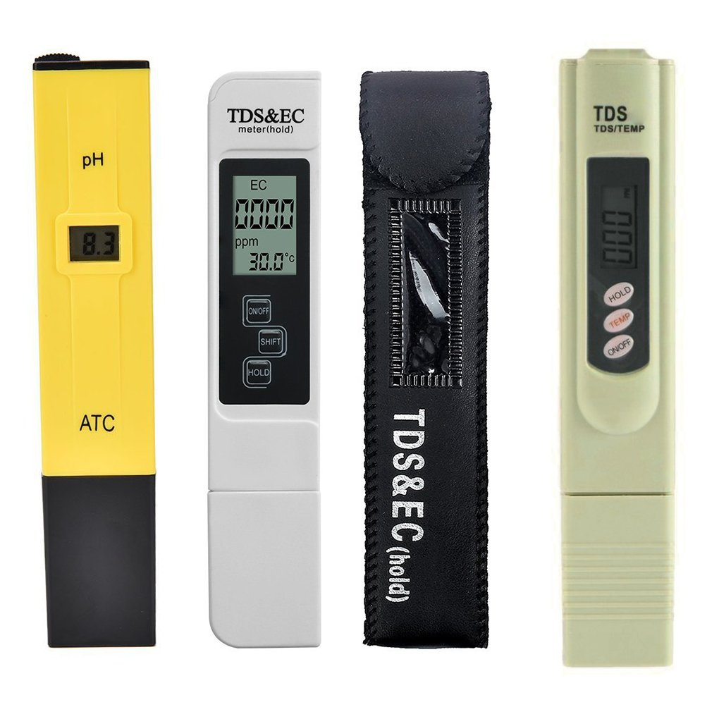 Muluo 3pcs/lot Digital TDS Water Tester PH Meter Pen TDS EC Meter Aquarium Filter Water Quality Purity Tester
