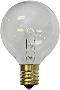 Sival - Replacement Globe Light Bulb, G50, 7W/130V, E17 (C9) Intermediate Base, Clear, 25 Pack (G16-1/2)