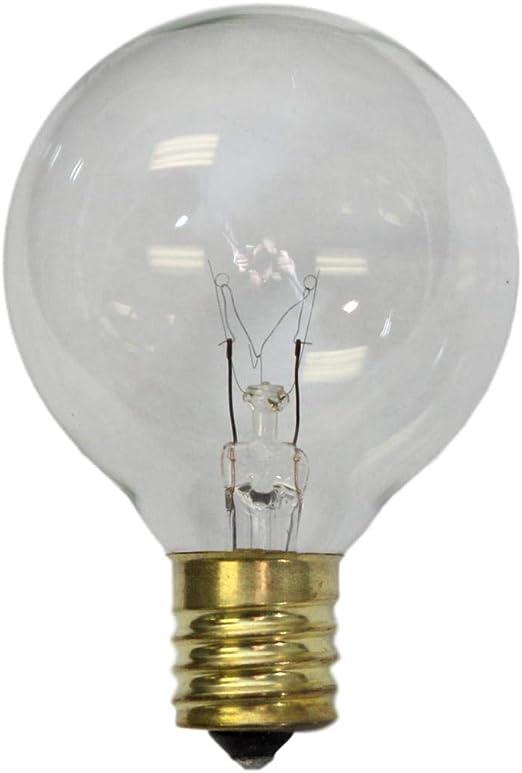 Sival Replacement Globe Light Bulb G50 7w 130v E17 C9 Intermediate Base Clear 25 Pack G16 1 2 Amazon Com