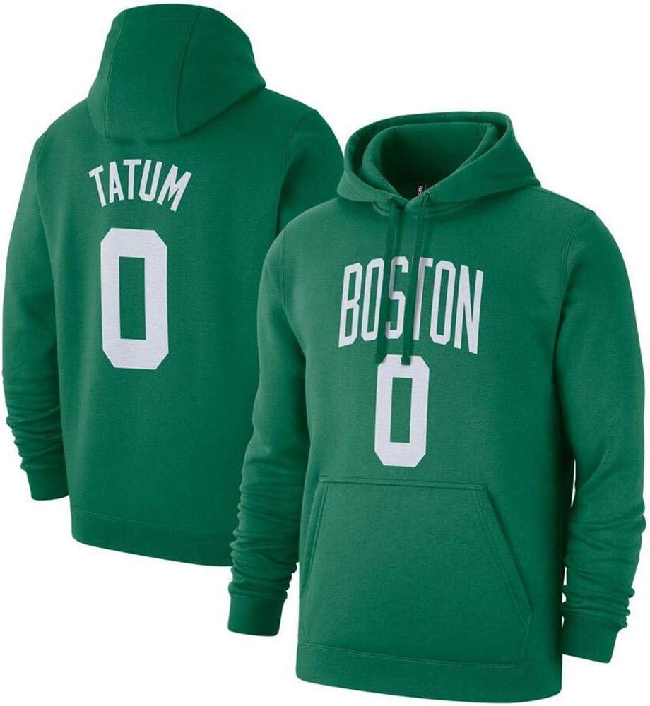 S-3XL ,M 165~170cm Jayson Tatum # 0 Boston Celtics Jersey Hommes en Jersey Top Casual Sweat-Shirt Confortable avec Capuche YSMART Sweat /à Capuche de Basket-Ball Masculin
