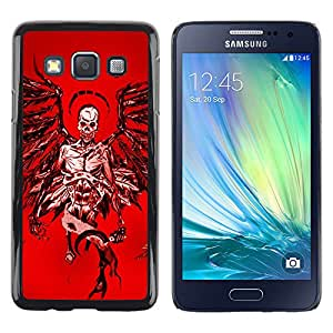 Paccase / SLIM PC / Aliminium Casa Carcasa Funda Case Cover - Angel Death Red Blood Wings Skull - Samsung Galaxy A3 SM-A300