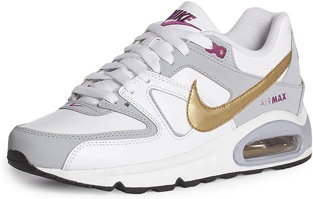 Nike Nike Air MAX Command (GS) - 407626170 - Zapatillas de Piel para Mujer Blanco Blanco, Color Blanco, Talla 36: Amazon.es: Zapatos y complementos