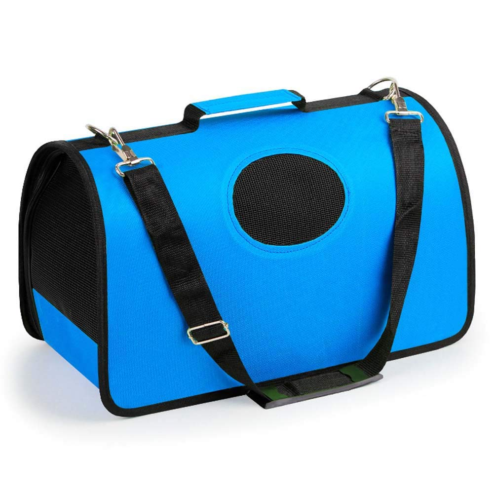 bluee Small bluee Small ESUPPORT Airline Approved Soft Sided Carrier Bag Outdoor Travel Portable Pet Carriers for Cats, Rabbit, Small Animal Solid color bluee Small
