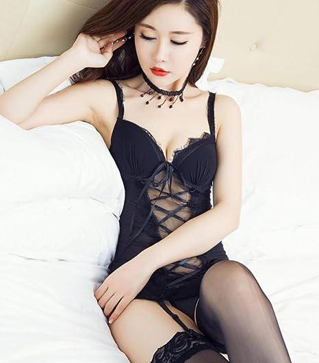 Liguero de lencería sexy traje de falda sin respaldo con brazo ...