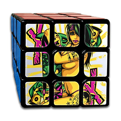 3X3x3 Puzzle Cube Sexy Woman Ultra Smooth Brain Game Puzzle Toys Rubiks Cube For Adults Kids Anti Stress Anti Anxiety