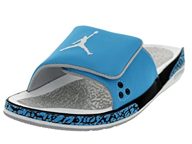 11135f0d1c0c Jordan Nike Air 3 Slide Men Slide DK Powder Blue Wolf Grey Black ...