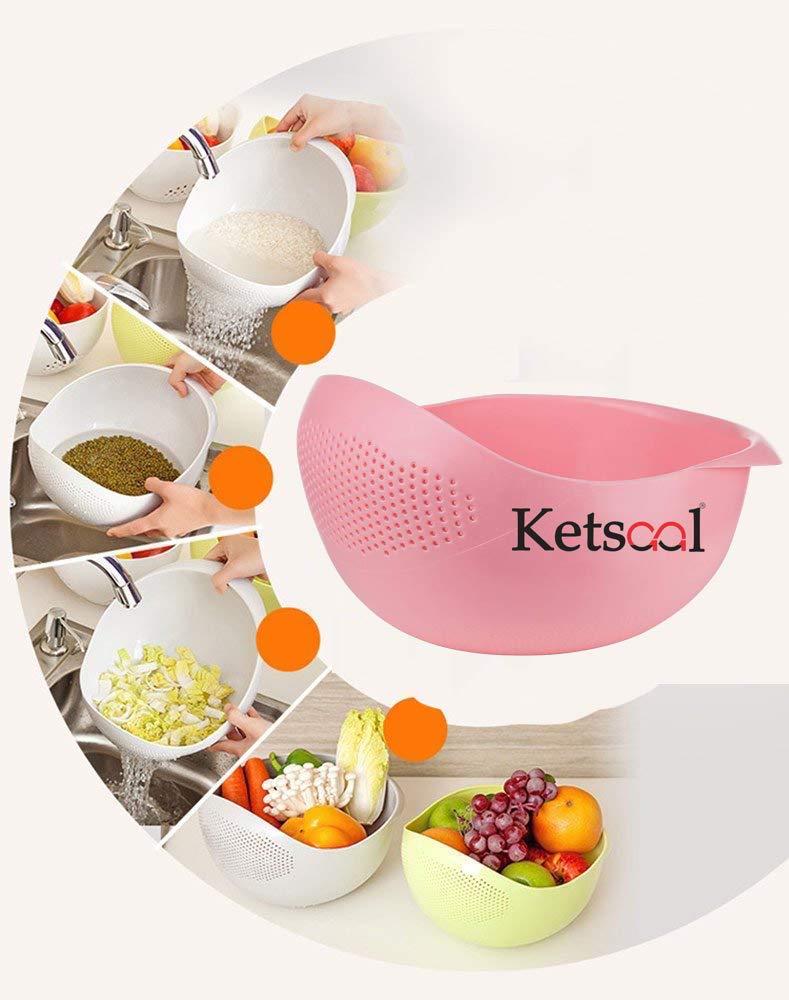 Ketsaal Plastic Bowl Strainer, Multicolour