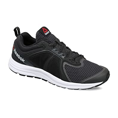 Reebok Men's Zone Cushrun 2.0 Coal, Black and White Running Shoes - 10 UK/