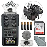 zoom h6 module - Zoom H6 Portable Recorder with Interchangeable Mic System Bundle with 16 GB + FiberTique Cloth +Batteries
